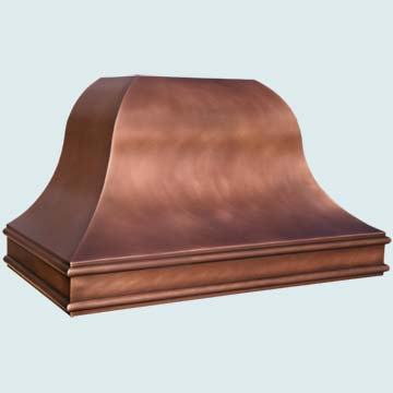 Copper Range Hood # 4495