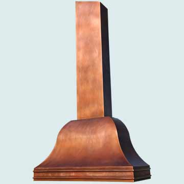 Copper Range Hood # 4665