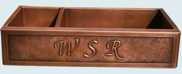 Custom Copper Repousse Apron Sinks # 2825