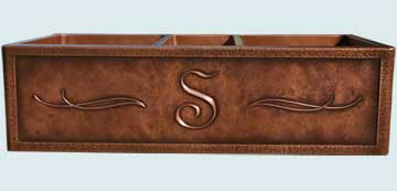 Custom Copper Repousse Apron Sinks # 2843