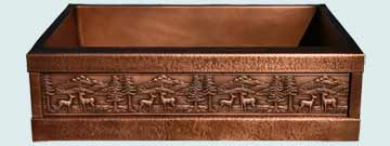 Custom Copper Repousse Apron Sinks # 2978