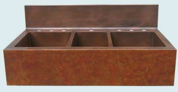 Copper Extra Large Sinks # 3632