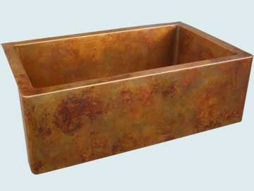 Copper Sinks Old World Patina # 4216