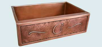 Custom Copper Repousse Apron Sinks # 4431