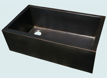 Custom Bronze and Brass Farm Sinks # 4437