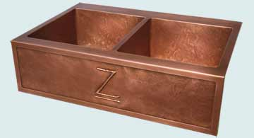 Custom Copper Repousse Apron Sinks # 4706