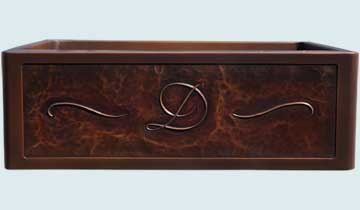 Custom Copper Repousse Apron Sinks # 5126