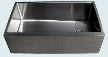 Custom Stainless Steel Farmhouse Sinks # 3729