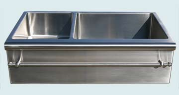 Custom Stainless Steel Farmhouse Sinks # 3050