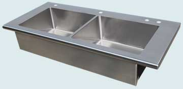 Custom Stainless Steel Farmhouse Sinks # 4046