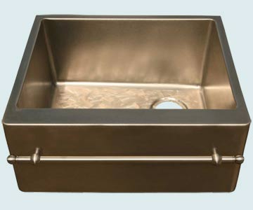 Custom Bronze and Brass Farm Sinks # 4579