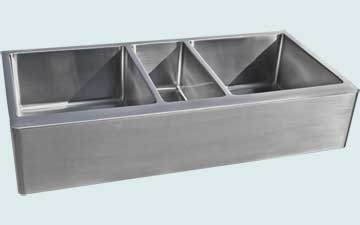 Custom Stainless Steel Farmhouse Sinks # 4823
