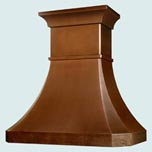 Copper Range Hoods Tall French Country